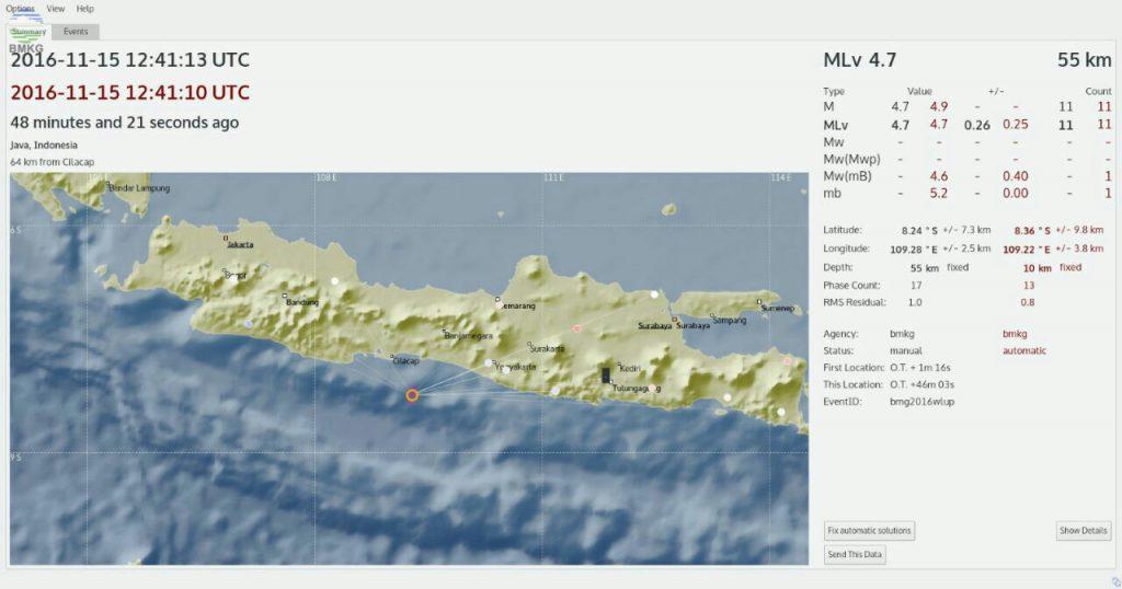 Gempabumi Guncang Zona Selatan Jawa Tengah dan Yogyakarta, Tidak Berpotensi Tsunami