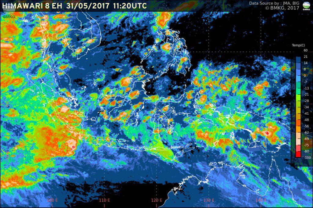 Siaran Pers: Waspada Potensi Hujan Lebat di Wilayah Indonesia (31 Mei - 03 Juni 2017)