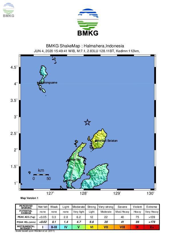 Ulasan Guncangan Tanah Akibat Gempabumi Di Maluku Utara 4 Juni 2020