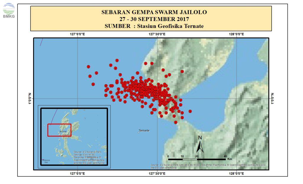 Siaran Pers Tanggapan BMKG Terkait Meningkatnya Aktivitas Kegempaan di Jailolo, Halmahera Barat