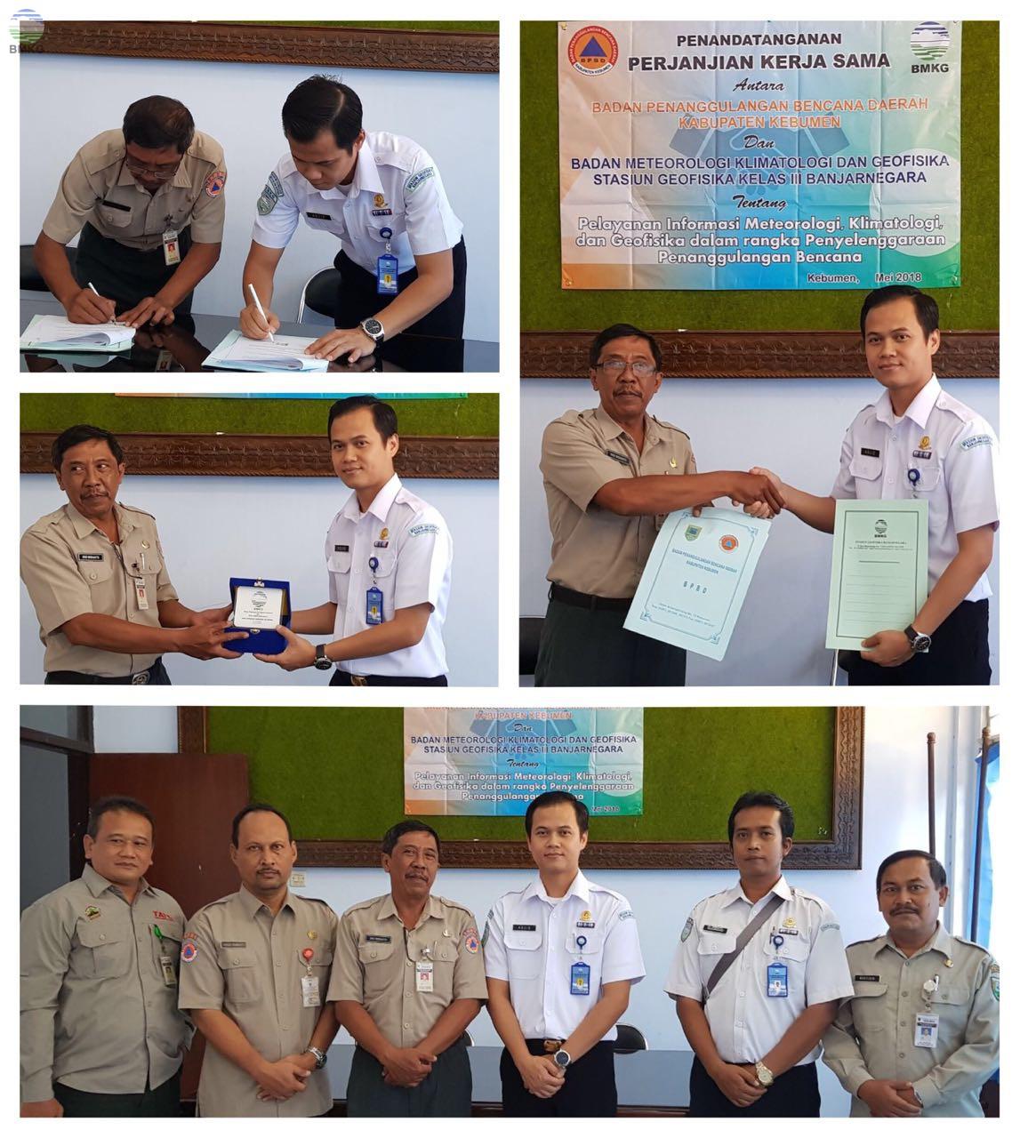 Kerja Sama BMKG Stageof Banjarnegara dengan BPBD Kabupaten Kebumen