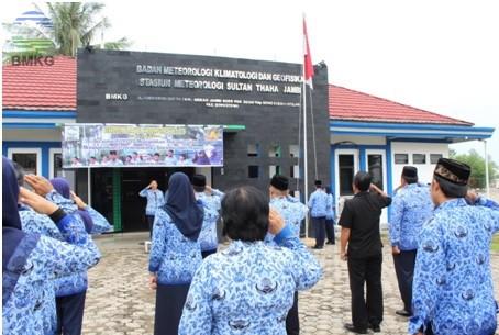 BMKG Provinsi Jambi Laksanakan Upacara HUT KORPRI Ke-45