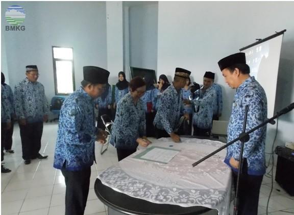Pengukuhan Dewan Pengurus Korpri Komiariat BMKG Jambi & Penandatanganan Kerjasama Kantor Berita ANTARA Biro Jambi