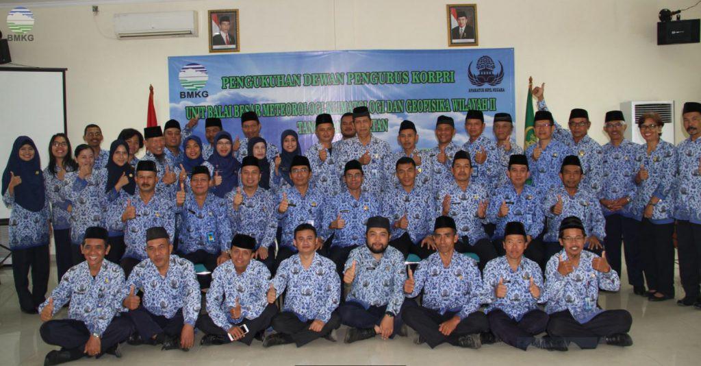 Pengukuhan Dewan Pengurus Korpri Unit BBMKG Wil. II Periode 2016-2021