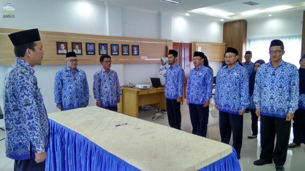 Pengukuhan Dewan Pengurus Korpri BMKG Provinsi Sumatera Selatan