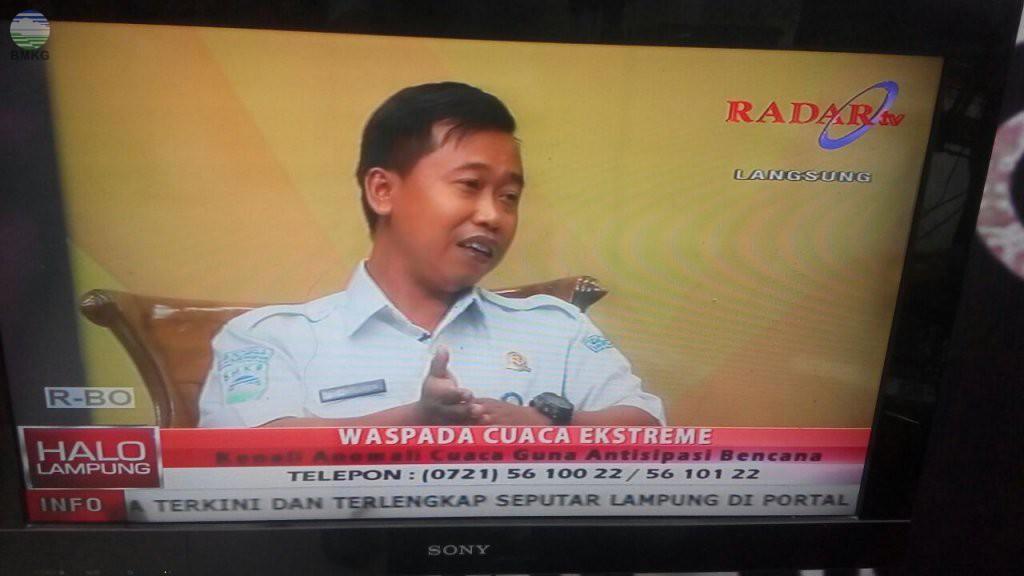 Stamet Raden Inten 2 Menjadi Narasumber di Radar TV Lampung