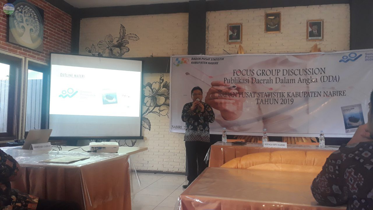Partisipasi Stamet Nabire dalam Focus Group Discussion Publikasi Daerah Dalam Angka