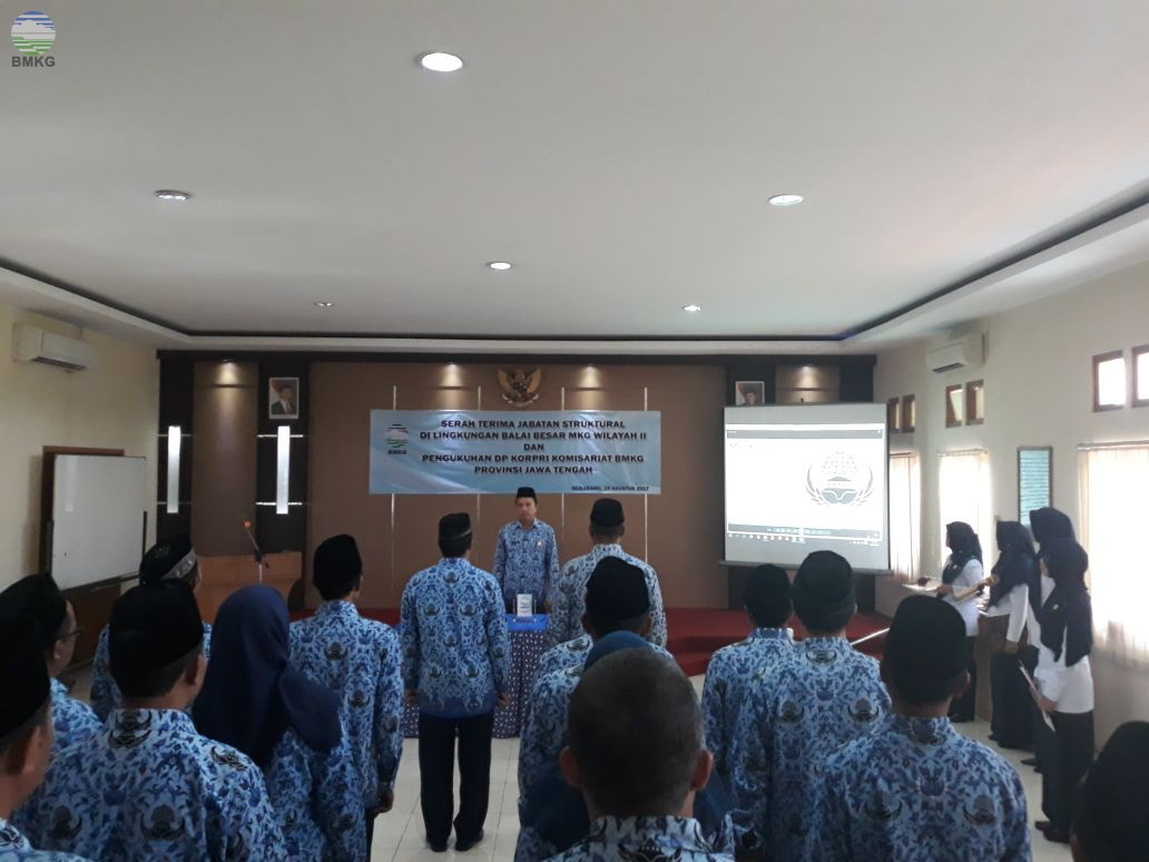 Pengukuhan DP Korpri Komisariat BMKG Provinsi Jawa Tengah dan DI Yogyakarta.