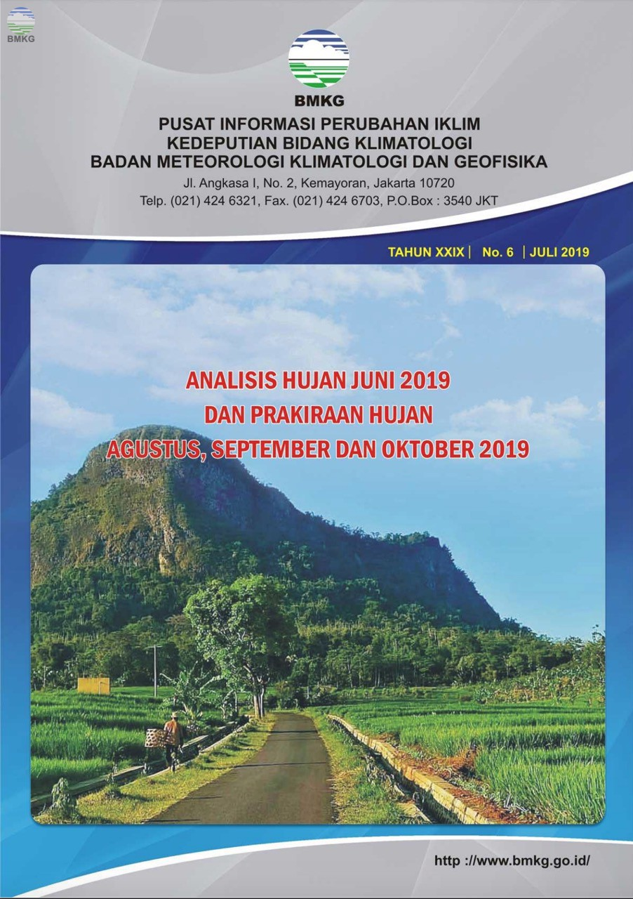 Buletin Hujan Bulanan di Indonesia - Updated Juli 2019