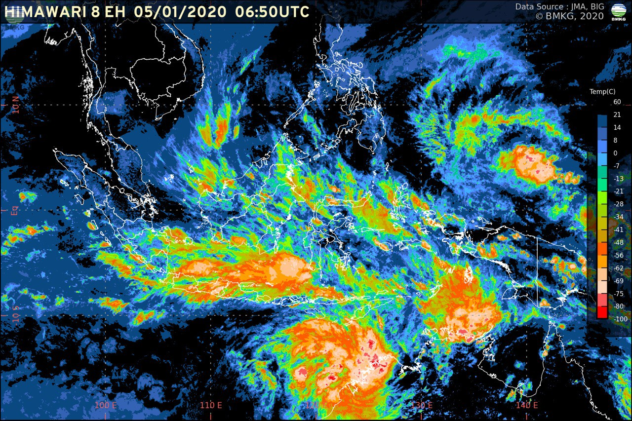 Update Rilis BMKG; Waspada Potensi Cuaca Ekstrem Sepekan ke Depan (5-12 Januari 2020)