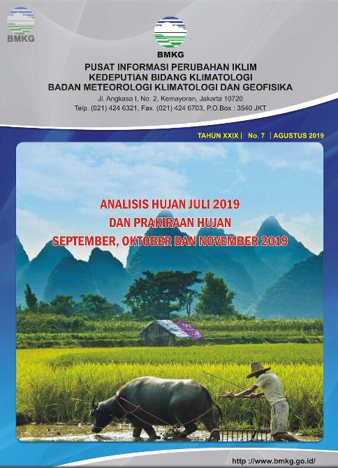 Buletin Hujan Bulanan di Indonesia - Updated Agustus 2019