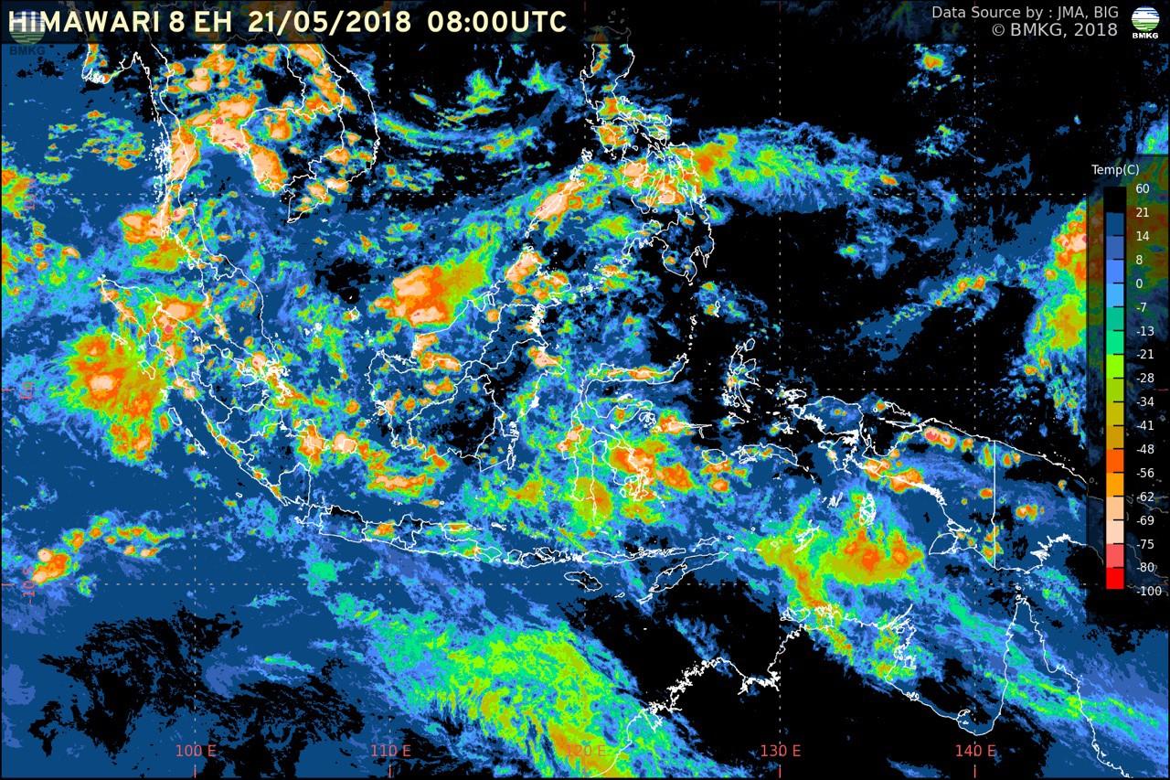 Potensi Hujan Lebat Berlanjut, Waspada Banjir dan Longsor di Beberapa Wilayah Indonesia (21-23 Mei 2018)
