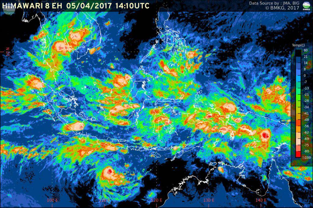 Siaran Pers : Peningkatan Potensi Hujan Lebat di Wilayah Indonesia (6-8 April 2017)