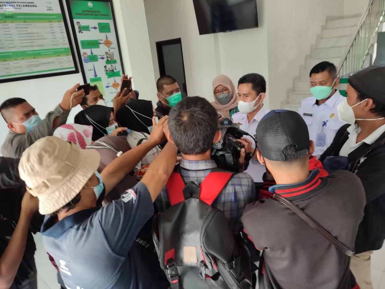 Press Release Monitoring Musim Kemarau 2021 dan Prakiraan Awal Musim Hujan 2021/2022 di Wilayah Sumatera Selatan
