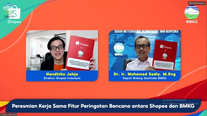 BMKG Jalin Kerjasama dengan Shoppe Indonesia, Berikan Informasi Peringatan Dini Bencana di Aplikasi Shoppe
