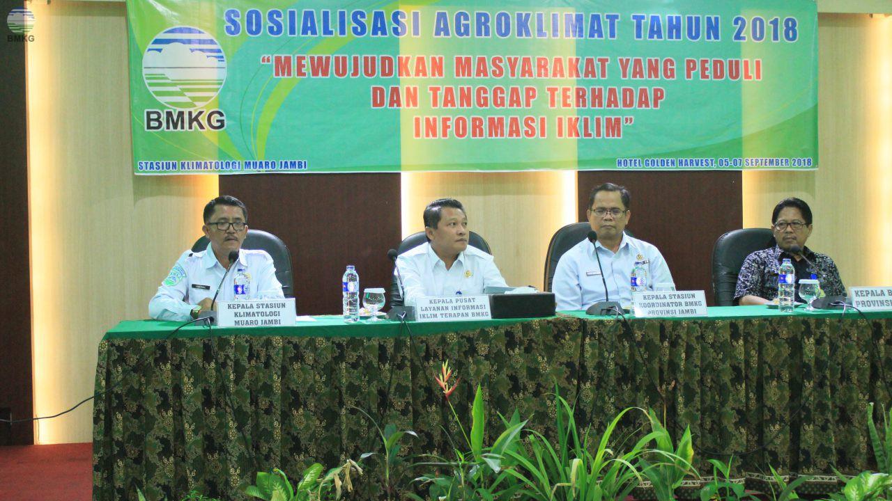 Sosialisasi Agroklimatologi Provinsi Jambi