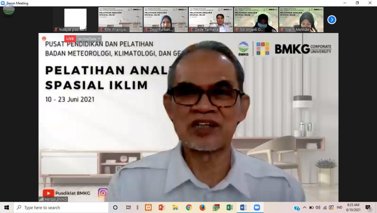 Herizal M.Si.: Pelatihan Teknis Analisis Spasial Iklim Tingkatkan Kompetensi ASN BMKG