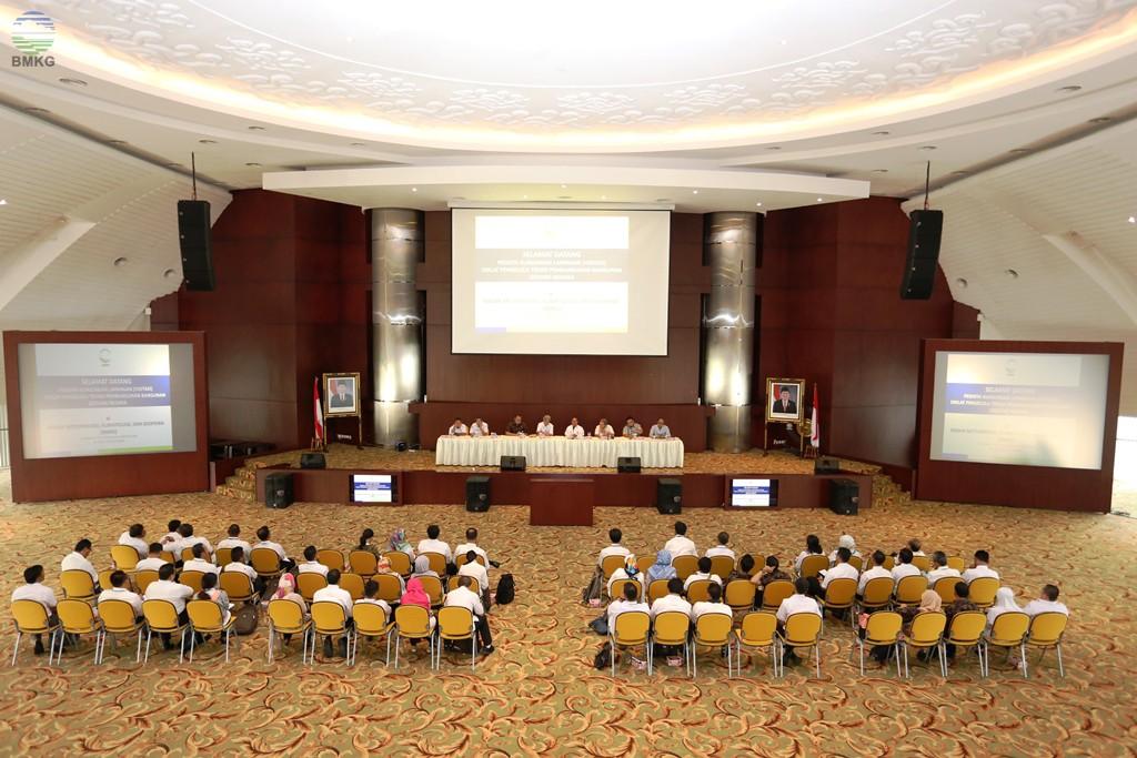 Visitasi Peserta Diklat Pengelola Teknis Pembangunan Bangunan Gedung Negara Badan Diklat PUPR Wilayah III ke BMKG