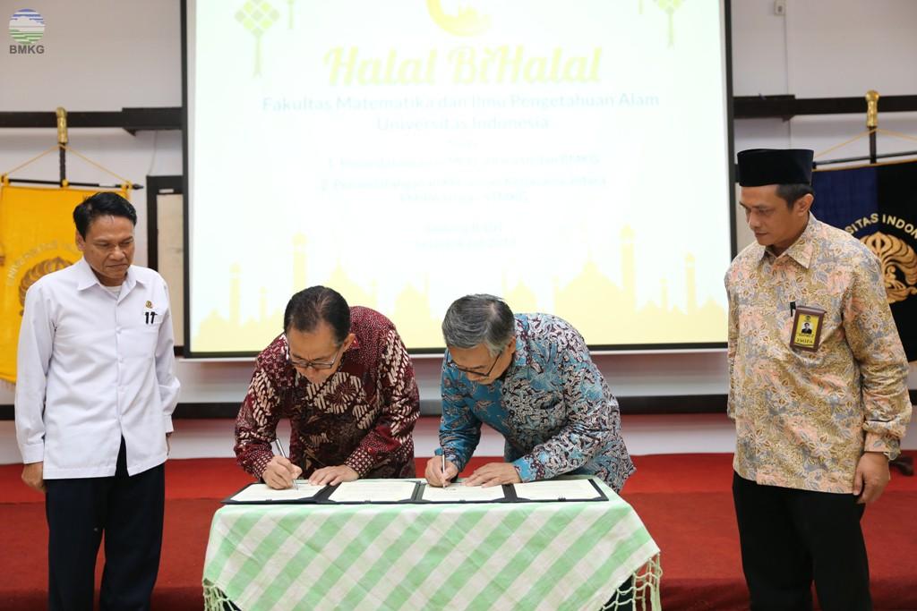 BMKG dan Universitas Indonesia Perkuat Kerjasama