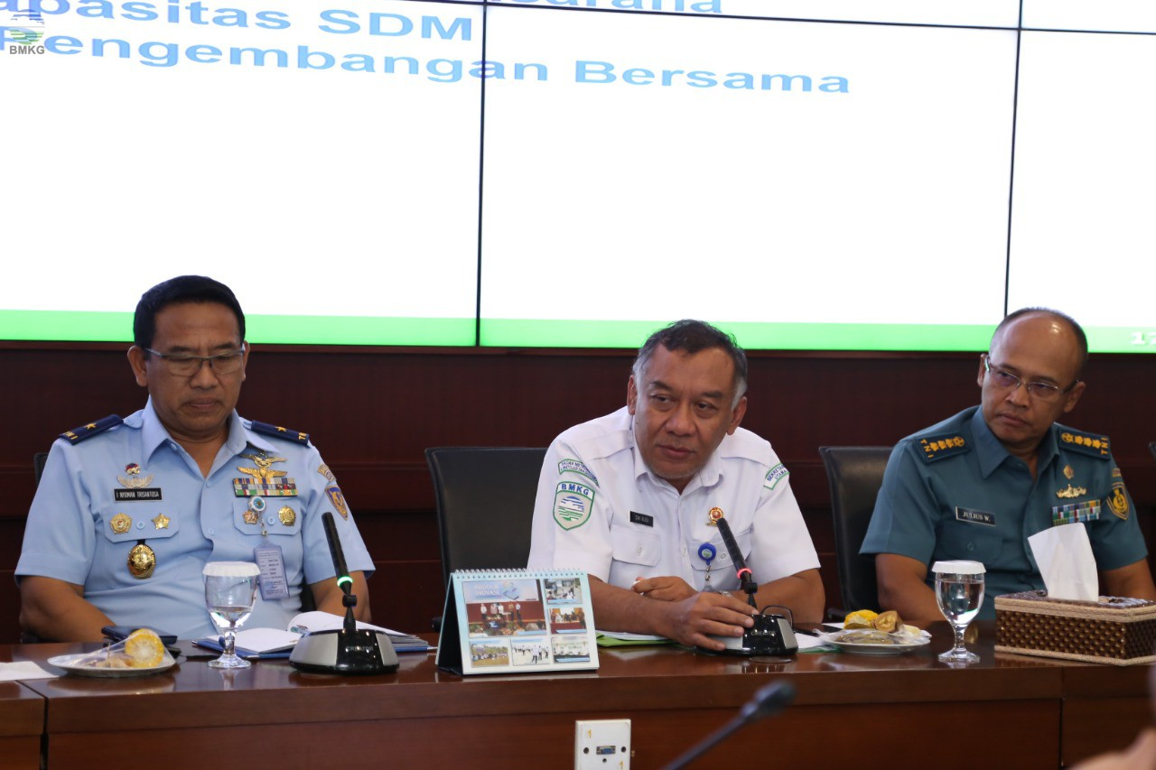 BMKG Jajaki Kerjasama dengan Tentara Nasional Indonesia