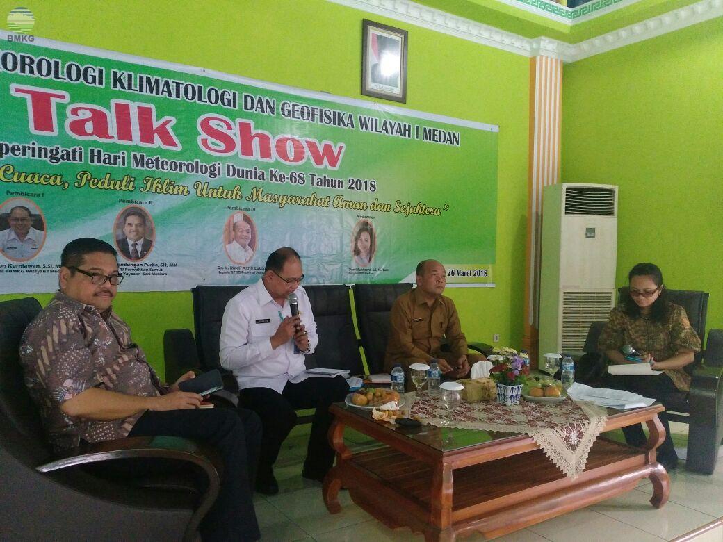 HMD Ke-68, BBMKG Wilayah I Medan Talkshow Cuaca dan Iklim