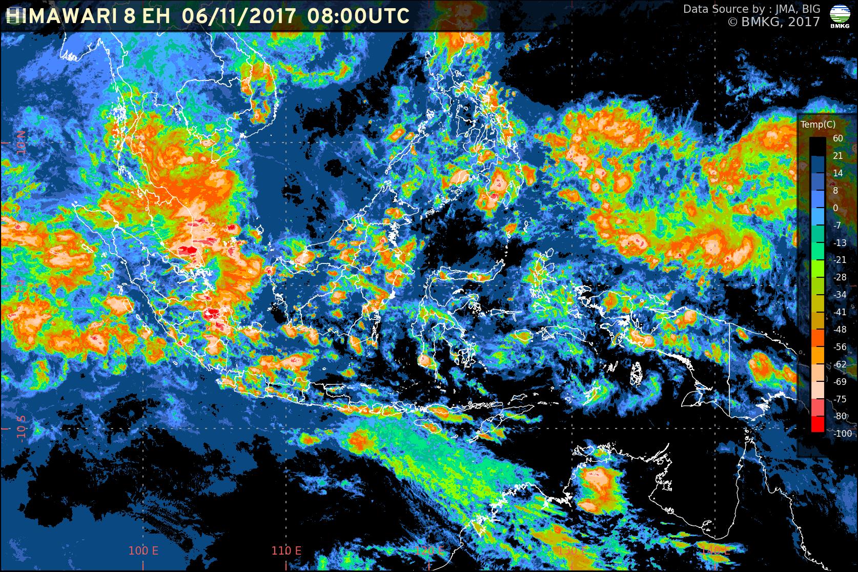 Waspada Peningkatan Potensi Hujan Lebat dan Gelombang Tinggi di Wilayah Indonesia (7-9 November 2017)